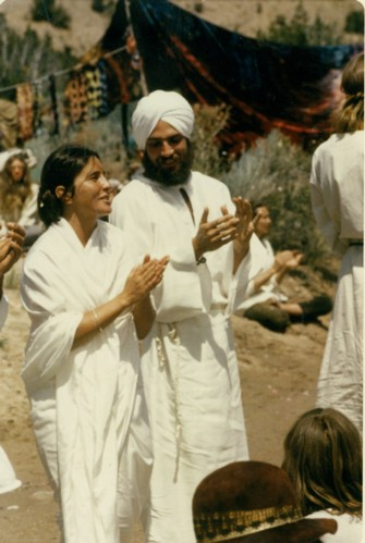 Just after Larry & Ganga's wedding in 1970 with plenty of singing and dancing in the desert